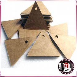 Tarjetas triangulares Kraft  para Regalos