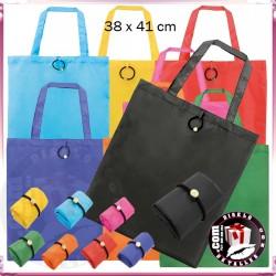 Bolsa Poliester Colores Plegable con Goma Vera 38 x 41 cm