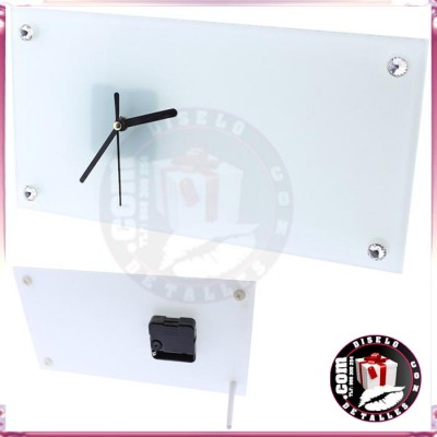 Reloj Cristal Personalizado 30 x 16 cm