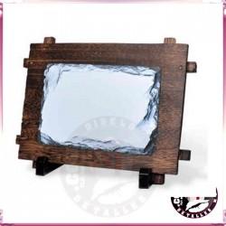 Portafotos de Pedra e Madeira 16 x 11 cm