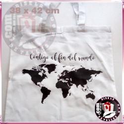 Bolsa Blanca Algodon 130 grs Asa Larga