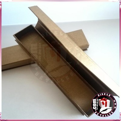 Cajas para Abanicos de Cartón Lujo Bronce