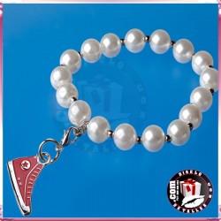 Pulseras de Perlas con Zapatilla