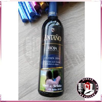 Rioja Crianza 3/8 con Fotografía y Decoración