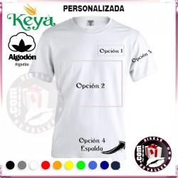 Camiseta Hombre Personalizada Keya 180 grs