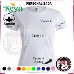 Camiseta Mujer Personalizada Keya 150 grs