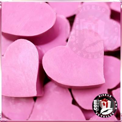 Jaboncitos Invitados Corazón Rosas