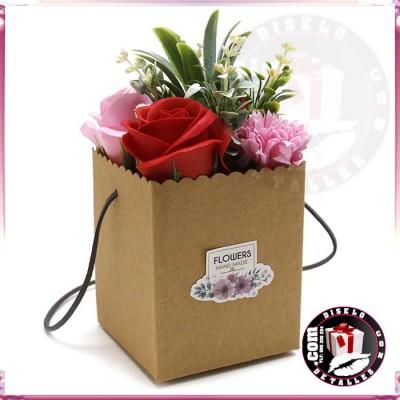 Bouquet Flores de Jabón en Rojo
