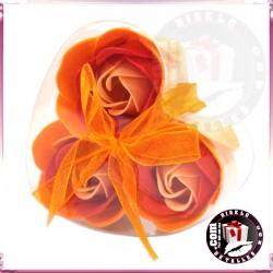 Conjunto de 3 Flores de Sabão de Pêssego