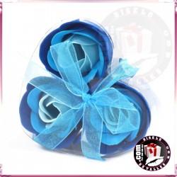 Conjunto de 3 Flores de Sabão Azuis