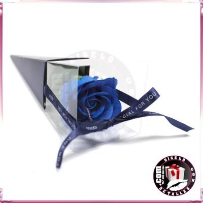 Rosa de Jabón Azul