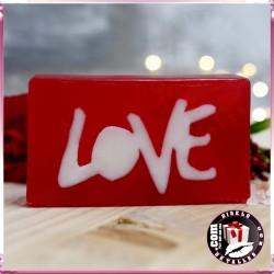 Design de Sabão Love Vermelho - Framboesa