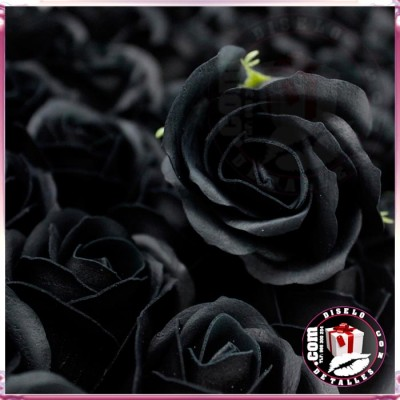 Rosas de Jabón Packs 50 uds Negras