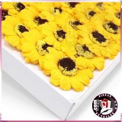 Flores de Girassol de Sabão Pequenas 50 uds