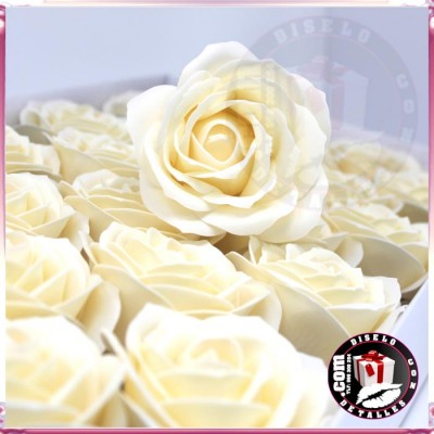 Rosas de Jabón Packs 25 uds Marfil