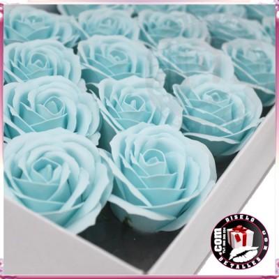 Rosas de Jabón Packs 25 uds Azul