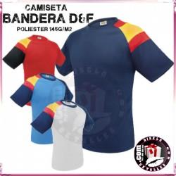 Camiseta Poliester Hombre Bandera D&F 145 grs