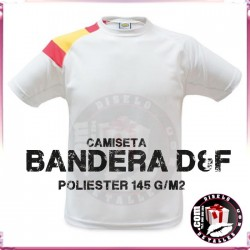 Camiseta Tecnica Hombre Bandera D&F 145 grs