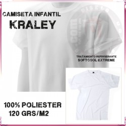 Camiseta Infantil 100% Poliester con refrigerante SoftCool Extreme