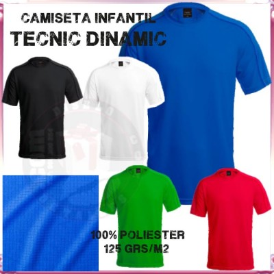 Camiseta Infantil Tecnic Dinamic 125 grs