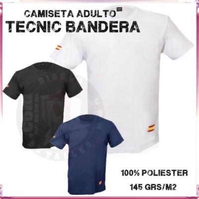 Camiseta Tecnica Adulto Bandera 145 grs