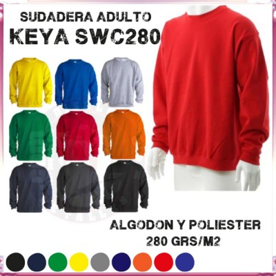 Sudadera para adulto de Keya SWC280 280 Grs