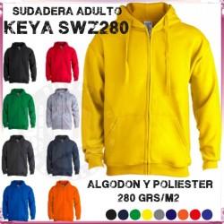 Sudadera adulto CAPUCHA + CREMALLERA  SWZC 280 Grs
