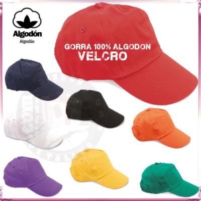 Gorra de Algodón con Cierre de Velcro
