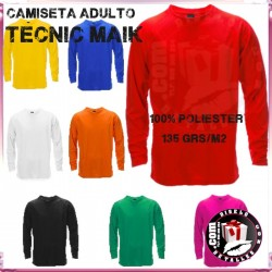 Camiseta Adulto Manga Larga Tecnic Maik 135 Grs