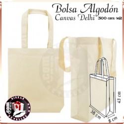 Bolsa Algodon Canvas Delhi 300 grs