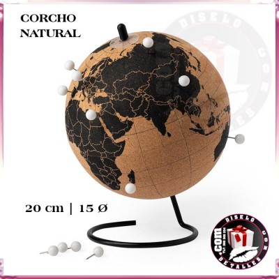 Globo Terráqueo de Corcho