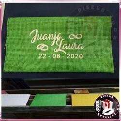 Sobres de Yute Personalizados 22 x 13 cm