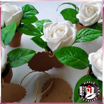 Rosas de Jabón con Maceta