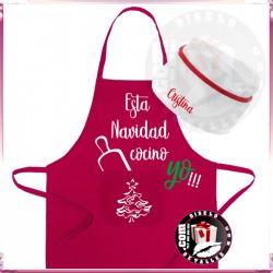 Delantal + Gorro Personalizado Navidad