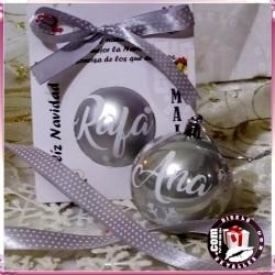 Bolas de Navidad Plata de 6 cm personalizadas