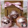 Bolas de Navidad Rosa Maquillaje de 6 cm personalizadas