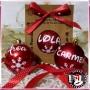 Bolas de Navidad Roja de 6 cm personalizadas